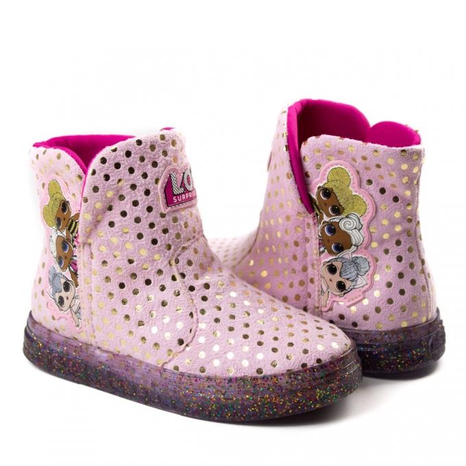 Bota Lol Infantil Feminino Grendene - Rosa/dr/glitter