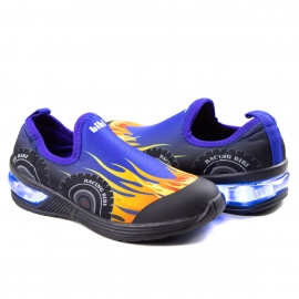 Tênis Infantil Masculino Space Wave 2.0 Bibi - Azul/hot