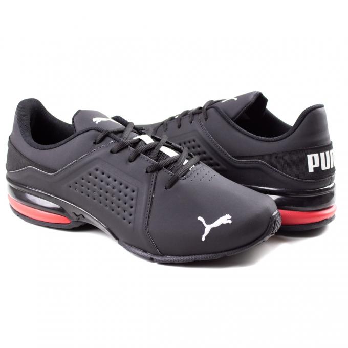 Tênis Masculino Viz Runner Puma - Preto/vermelho