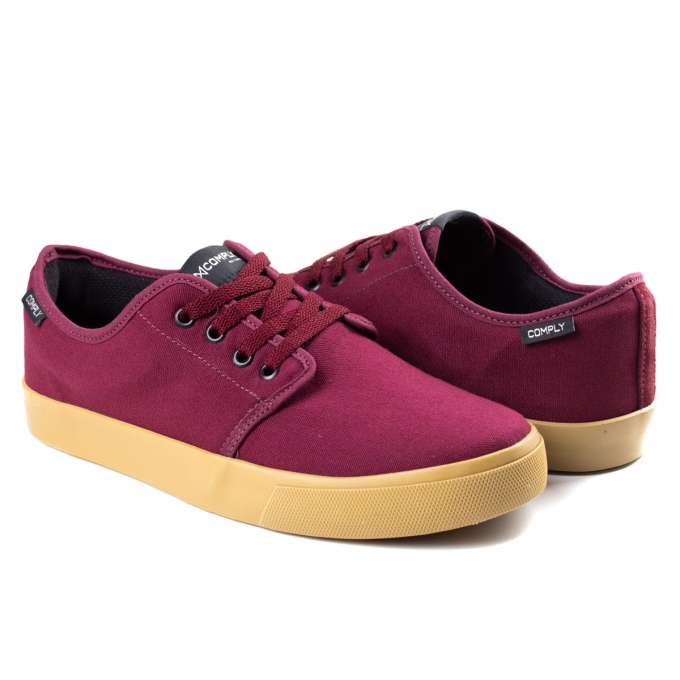 Tênis Masculino Street Lt Comply - Bordo/natural