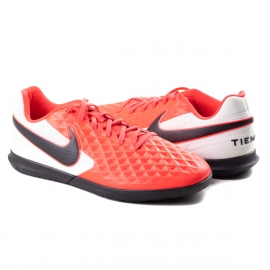 Tênis Indoor Tiempo Legend 8 Club IC Nike - Laser crimson/black-white
