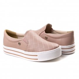 Tênis Slip On Feminino Via Marte - Rose