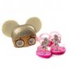 Sandália LOL Mask Infantil Feminino Grendene - Rosa/rosa perolado