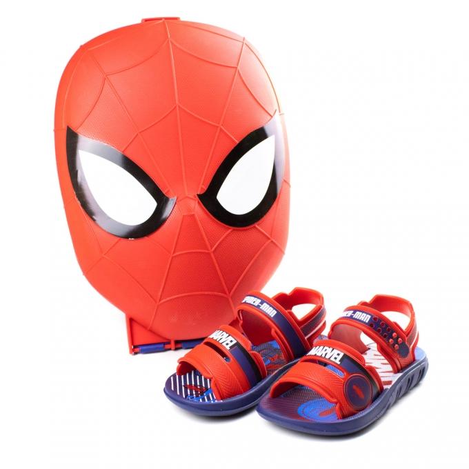 Sandália Marvel Infantil Masculino Grendene - Azul/vermelho