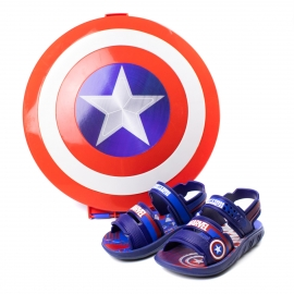 Sandália Marvel Infantil Masculino Grendene - Azul/azul/branco