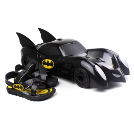 Sandália Batman Infantil Grendene -  preto/  preto/amarelo