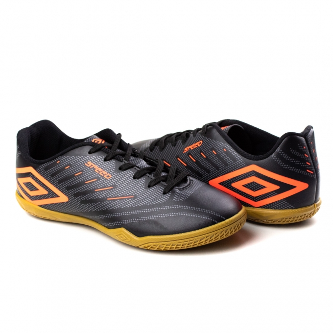 Tênis Indoor Speed Masculino Umbro - Preto/grafite/coral
