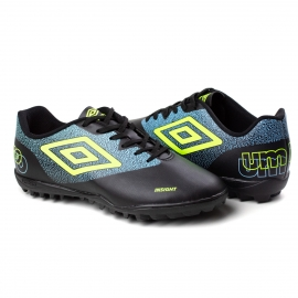 Chuteira Society Insight Umbro - Preto/azul
