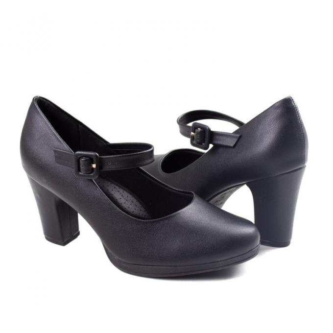 Sapato Salto Boneca Feminino Piccadilly - Preto