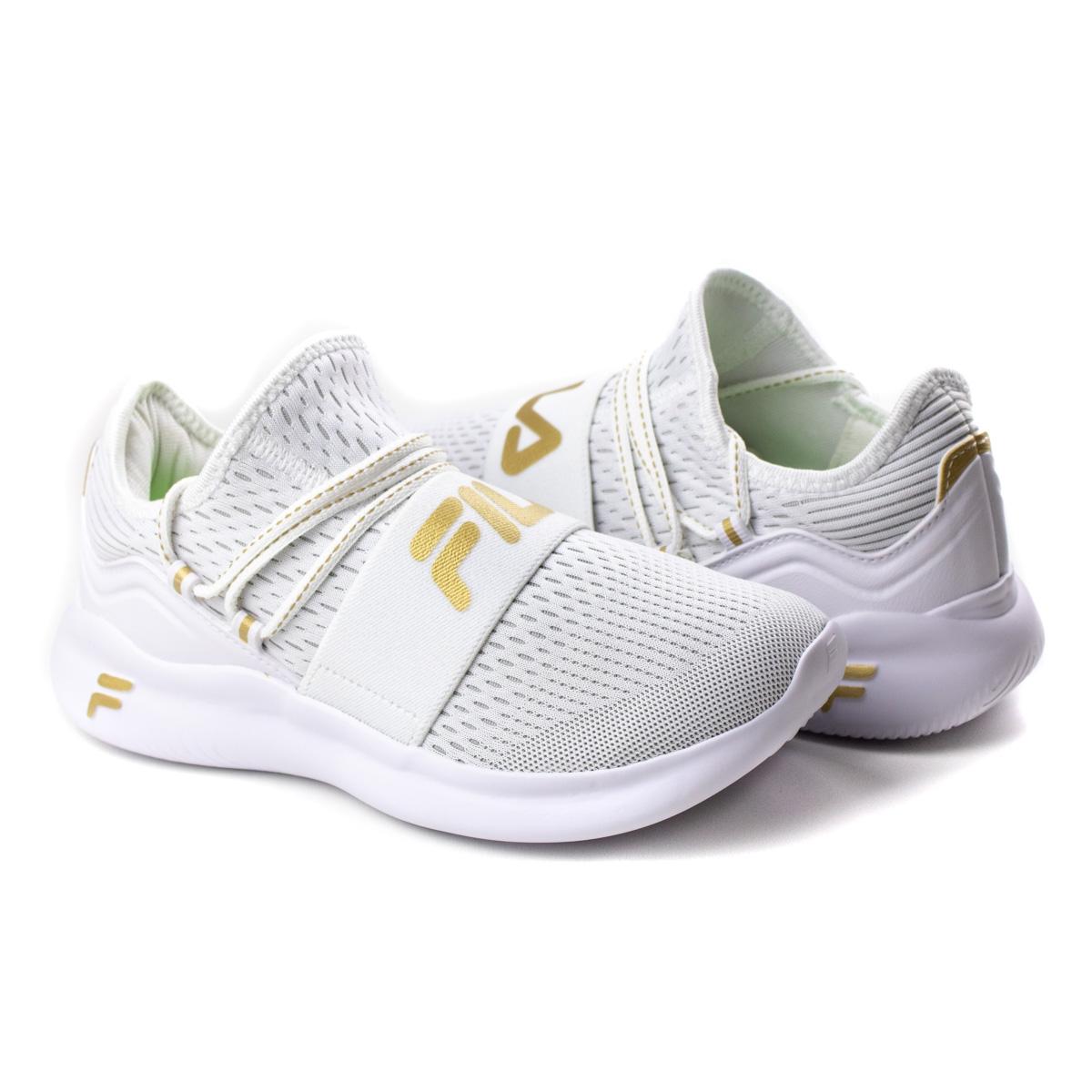 Tênis Trend Feminino Fila - Branco/dourado