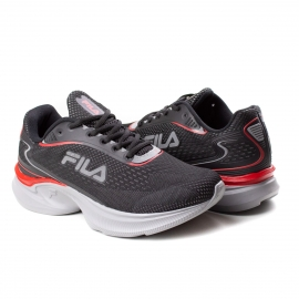 Tênis Racer Fluid Masculino Fila - Preto/cinza/vermelho