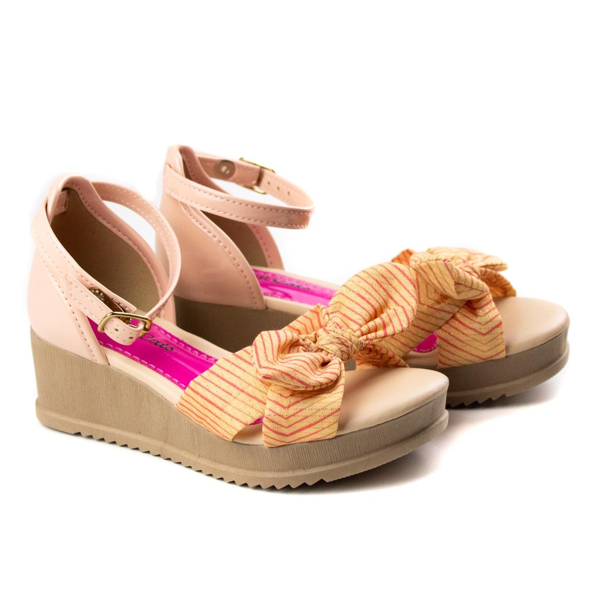 Sandália Anabela Infantil Pink Cats - Pink/vanilla