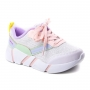 Tênis Jogging Feminino Infantil Pink Cats - Branco/rosa