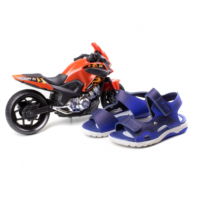 Sandália Wave Moto Infantil Masculino Kidy - Marinho/royal