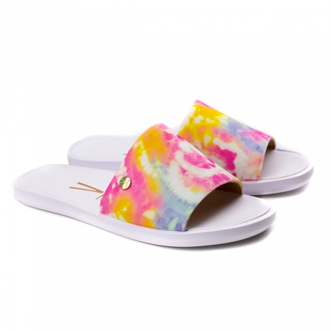 Tamanco Slide Tie Die Feminino Vizzano - Multi color