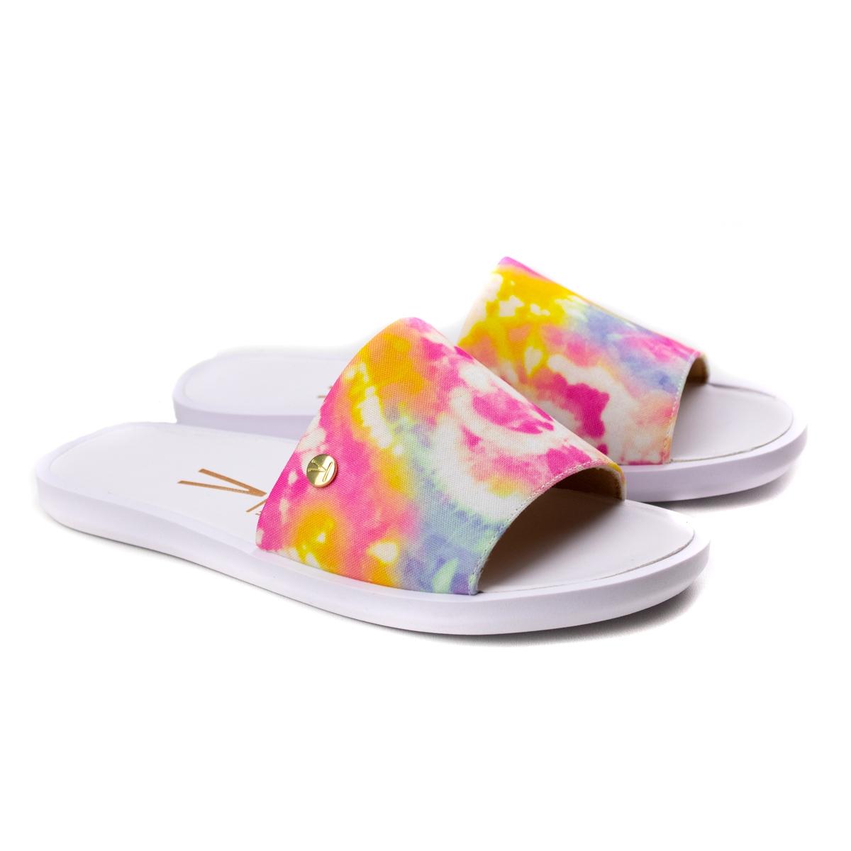 Tamanco Slide Tie Die Feminino Vizzano - Multi color