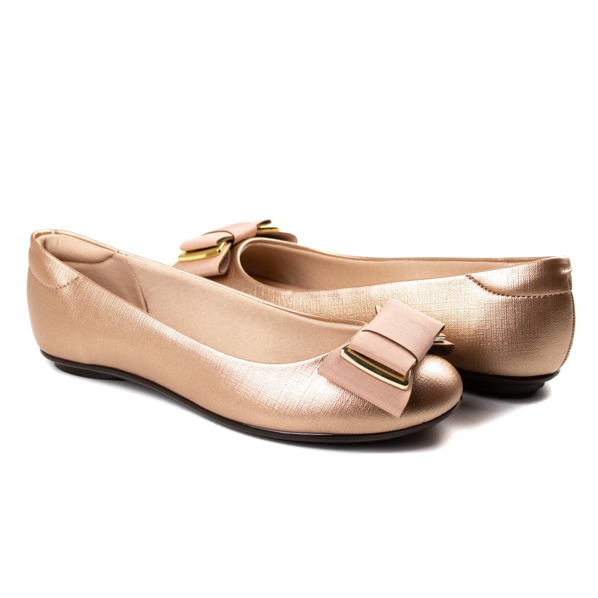 Sapatilha Sarja Feminino Moleca - Ouro rosado