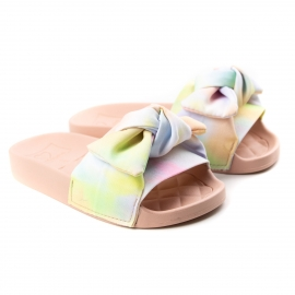 Tamanco Slide Tecido Infantil Feminino - Multi color