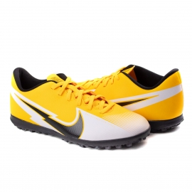 Chuteira Society Mercurial Vapor 13 Masculina Nike - Orange/black-white-laser