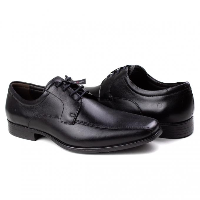Sapato Metropolitan Masculino Democrata - Preto