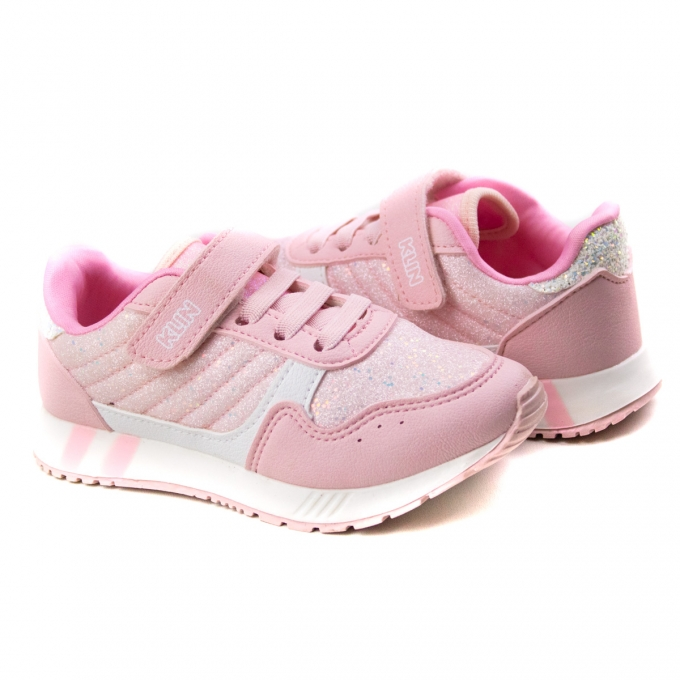 Tênis Walk Infantil Feminino Klin - Rosa bb