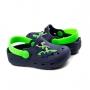 Crocs Surf Bebê Masculino Pé Com Pé - Marinho/verde
