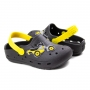 Crocs Moto Infantil Masculino Pé Com Pé - Preto/amarelo