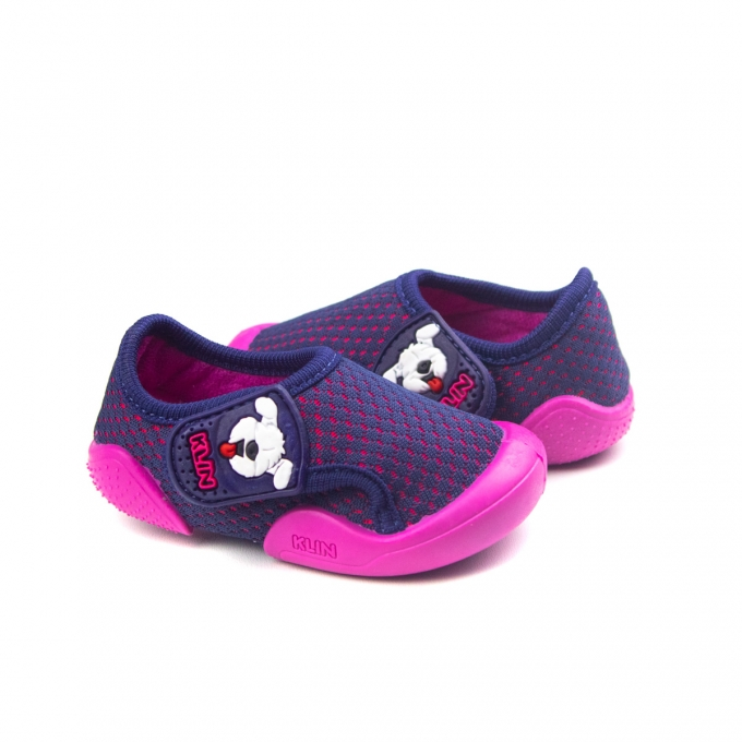 Tênis New Confort Bebê Feminino Klin - Marinho/pink