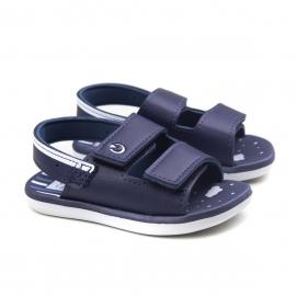 Sandália Mini Baby Masculina Cartago - Branco/azul/azul
