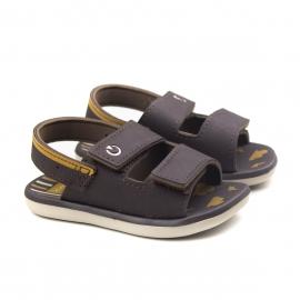 Sandália Mini Baby Masculina Cartago - Bege/marrom/marrom