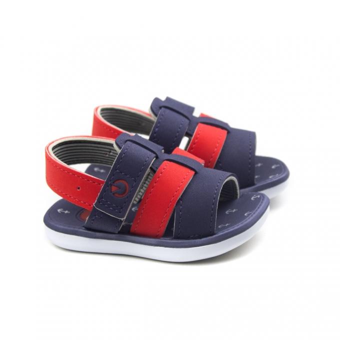 Sandália Linz Baby Masculina Cartago - Branco/azul/vermelho