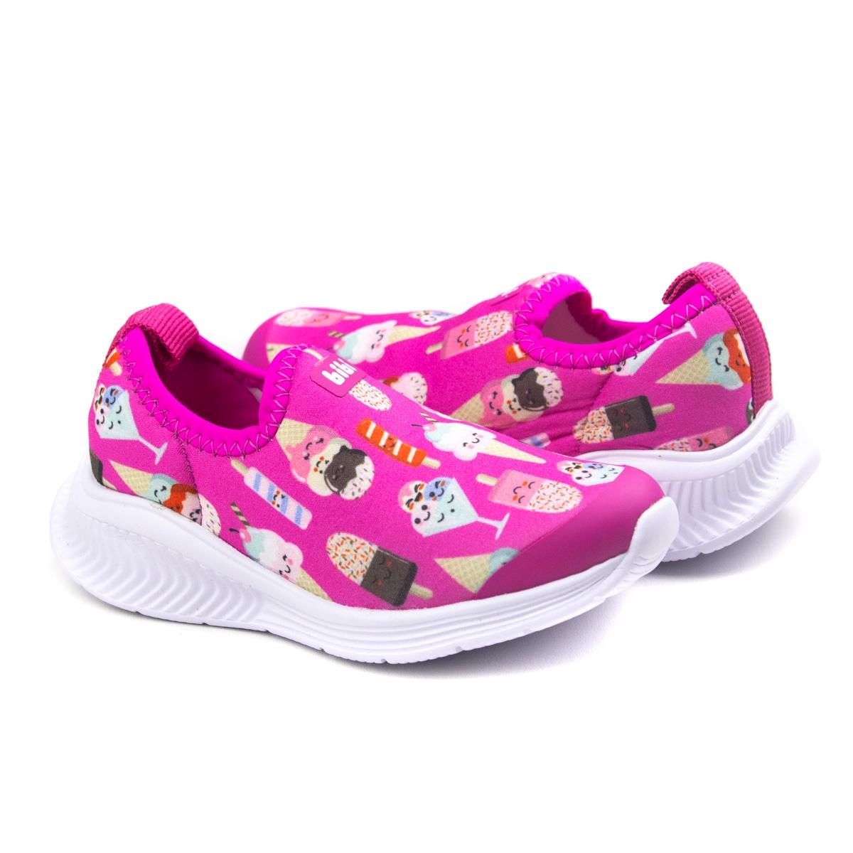 Tênis Fly Bebê Feminino Bibi - Estampado pink