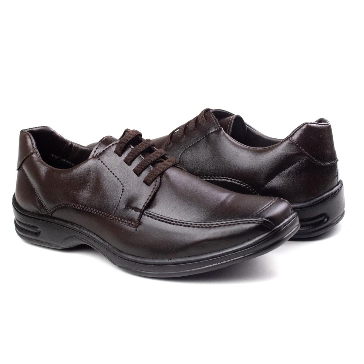Sapato Amarrar Masculino Franshoes - Cafe
