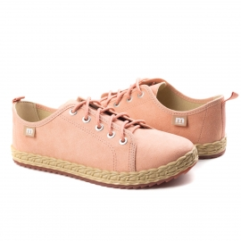 Tênis Corda Feminino Moleca - Light blush