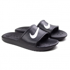 Chinelo Kawa Shower Masculino Nike - Black/white