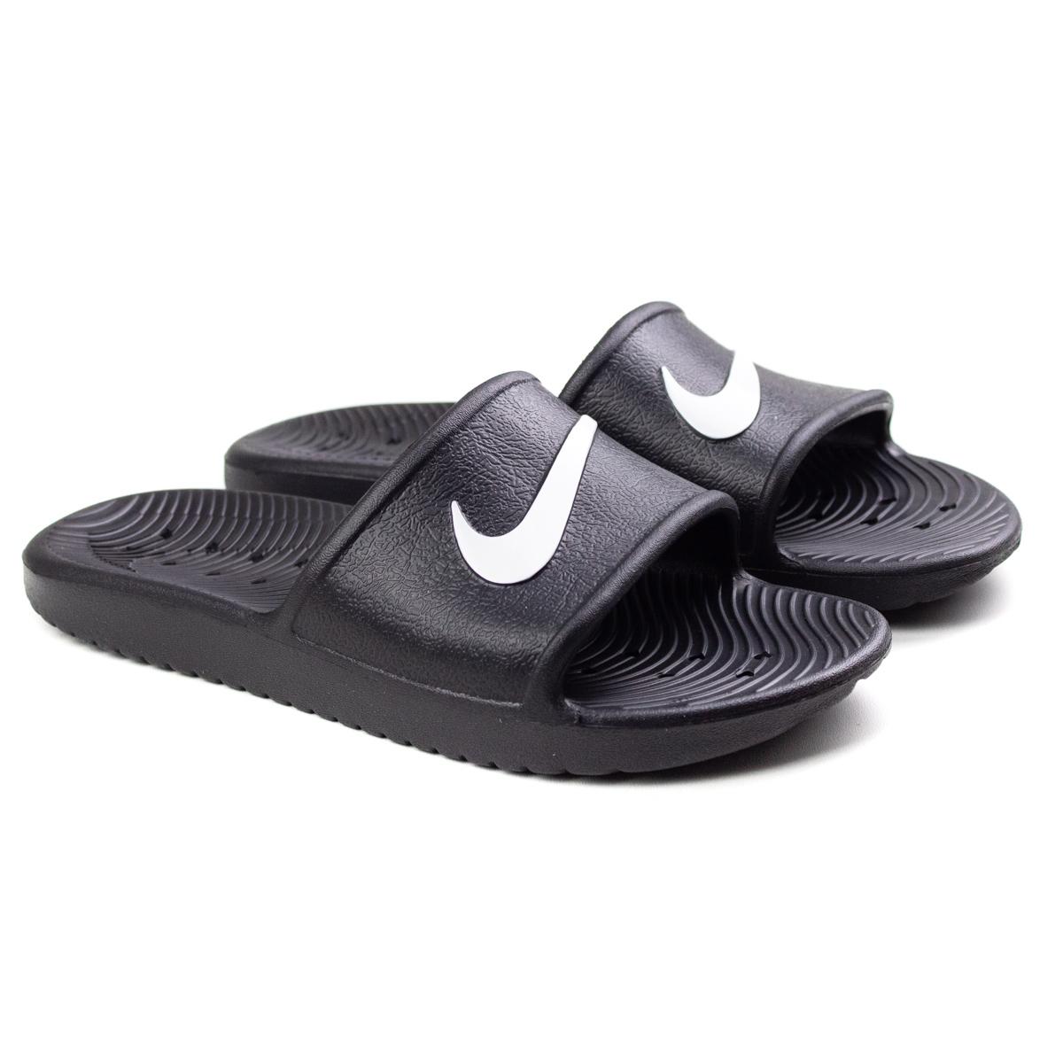 Chinelo Kawa Shower Masculino Nike - Black/white