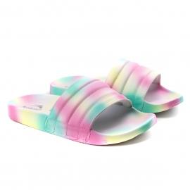 Chinelo Slide Florencia Tie Dye Feminino Kolosh - Branco/tie dye