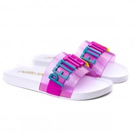 Chinelo Slide Feminino Petit Jolie - Pink pitaya/colorido