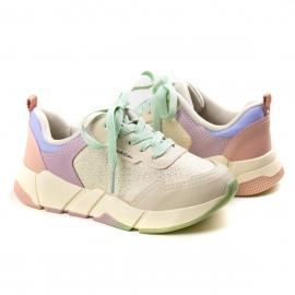 Tênis Jogging Feminino Infantil Pink Cats - Praia/hortela