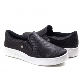 Tênis Slip On Feminino Via Marte - Preto