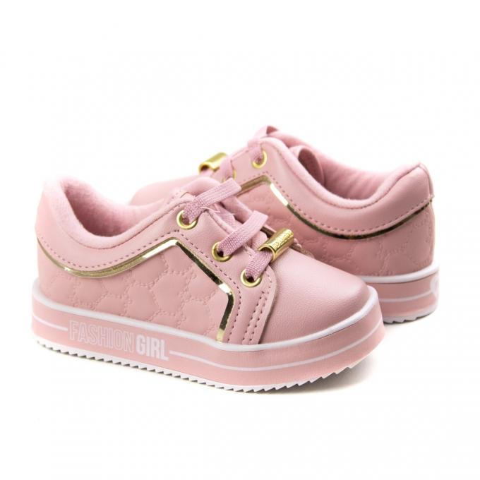 Tênis Calce Fácil Bebê Feminino Molekinha - Rosa/dourado