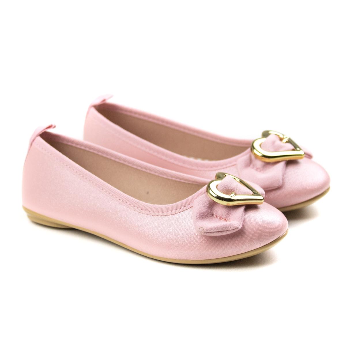 Sapatilha Napa Glitter Infantil Feminina Molekinha - Rosa