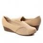 Sapato Anabela Feminino Modare - Bege