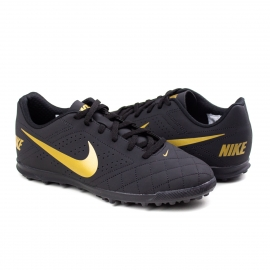 Chuteira Beco 2 TF Society Nike - Black/metallic gold-white