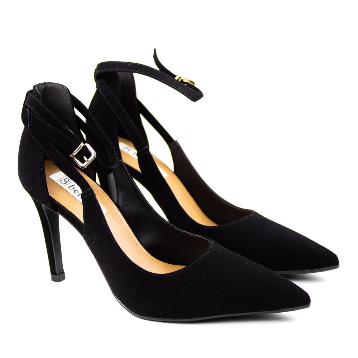 Sapato Salto Feminino Bebecê - Preto