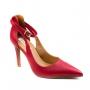 Sapato Salto Napa Feminino Bebecê - Cherry