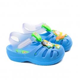 Sandália 44 Gatos Cutie Baby Unissex Grendene - Azul/vidro