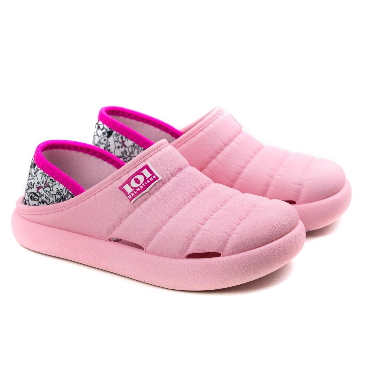 Babuche Disney Comfy Sneak Infantil Unissex - Rosa/branco