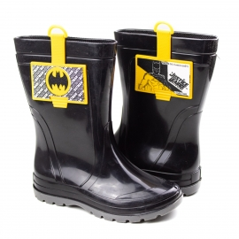 Galocha Liga Justiça Hero Pow Infantil Masculina Grendene - Preto/amarelo/cinza