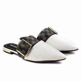 Mulle Feminino Piccadilly - Branco/monograma